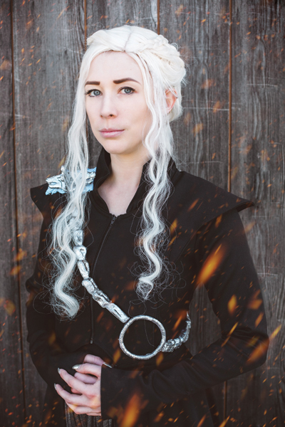 "Franzi als Daenerys Targaryen aus der Serie ""Game of Thrones"""