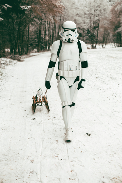 "Chris als Stormtrooper aus ""Star Wars"""