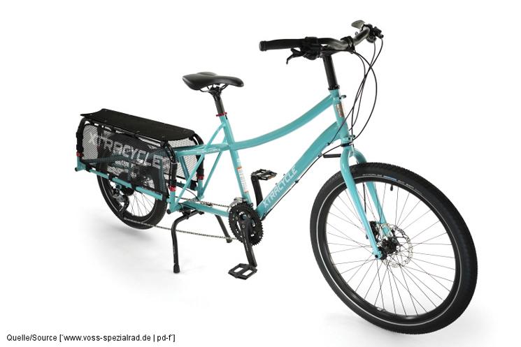 Im Bereich Lastenräder werden sogenannte Longtails immer beliebter. Der verlängerte Hinterbau erlaubt viel Zuladung, das Rad bleibt trotzdem sparsam beim Platzbedarf. Bis zu drei Kinder kann so ein Rad transportieren.